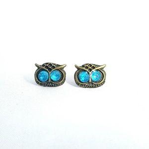 Owl Stud Earrings NWOT